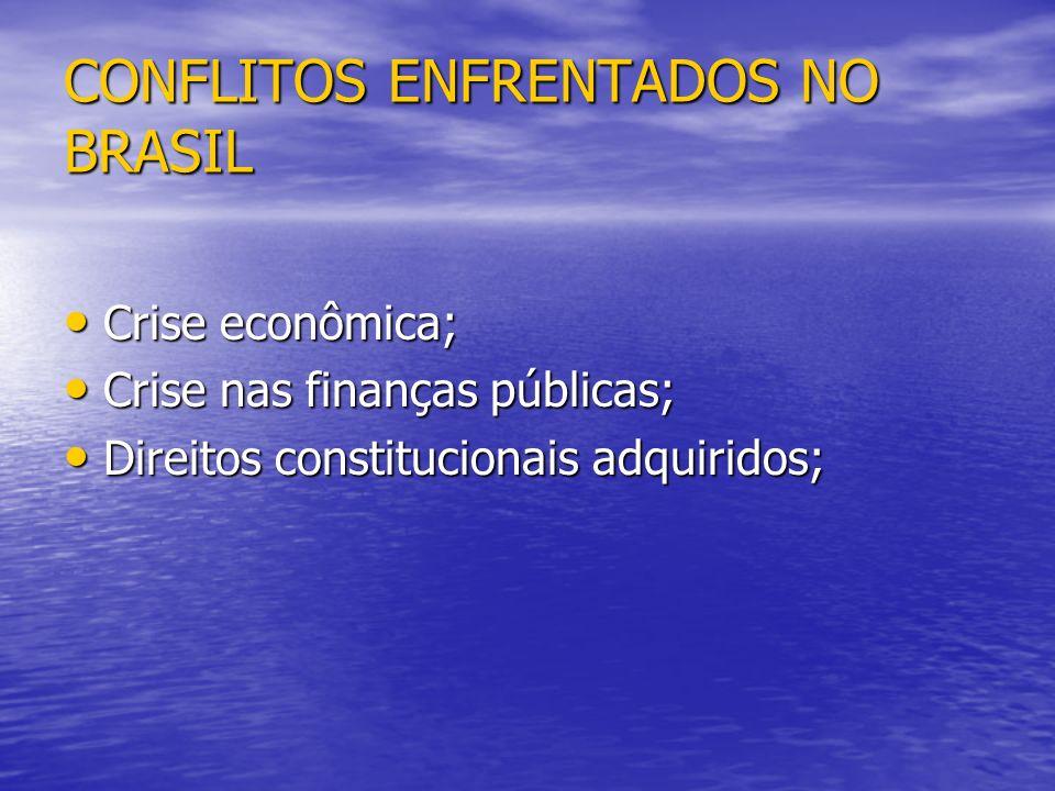 CONFLITOS ENFRENTADOS NO BRASIL