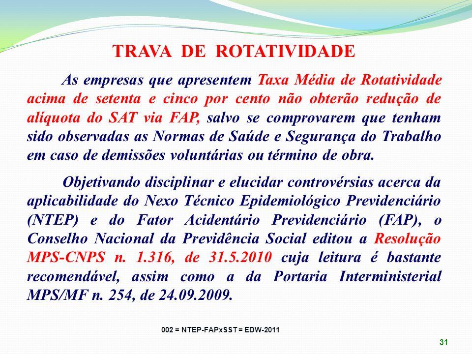 TRAVA DE ROTATIVIDADE