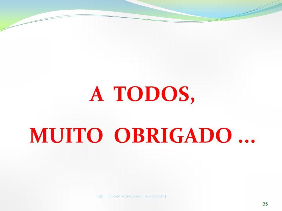 A TODOS, MUITO OBRIGADO ... PJC-SST = EDW-2009