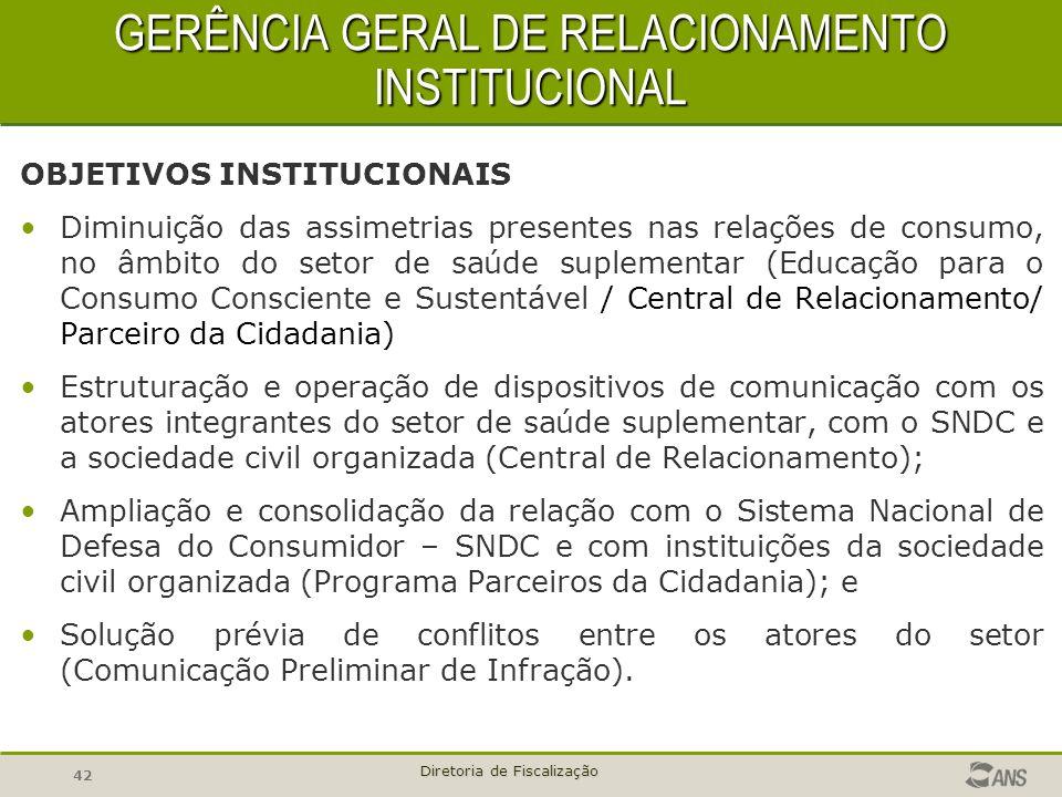 GERÊNCIA GERAL DE RELACIONAMENTO INSTITUCIONAL