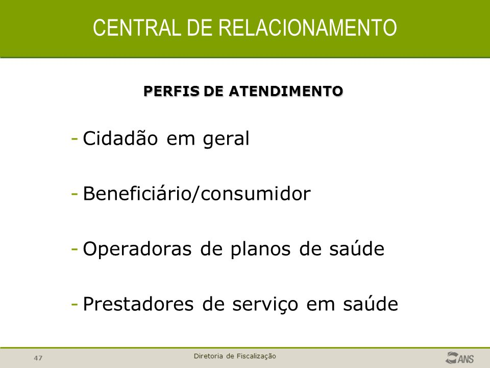 CENTRAL DE RELACIONAMENTO