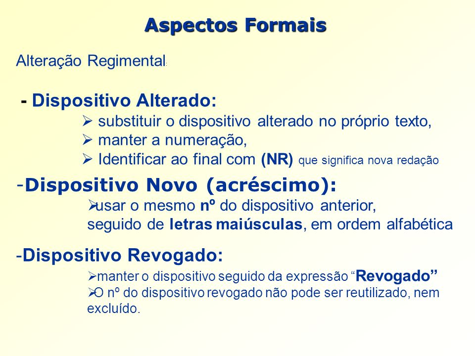 Dispositivo Novo (acréscimo):