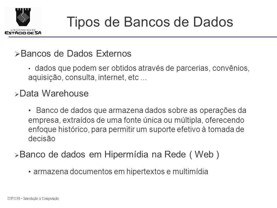 Tipos de Bancos de Dados