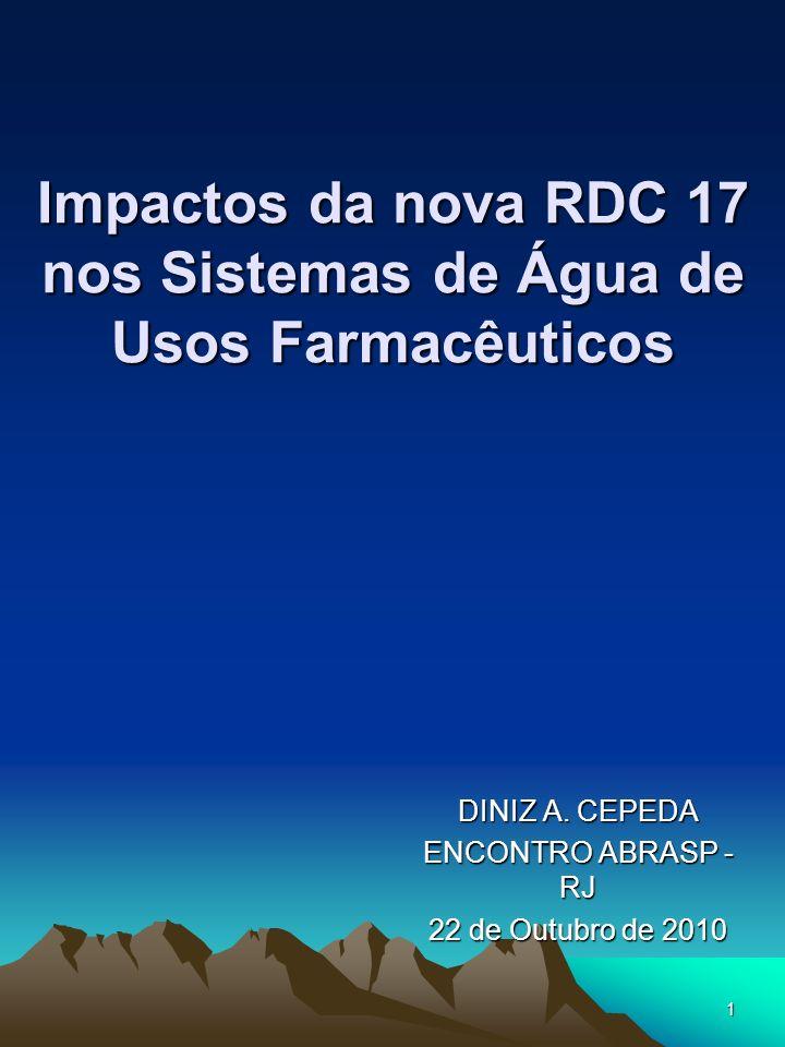 Impactos da nova RDC 17 nos Sistemas de Água de Usos Farmacêuticos
