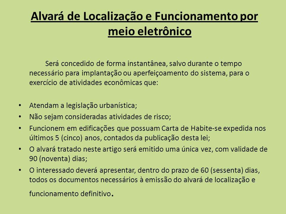 Alvará de Localização e Funcionamento por meio eletrônico