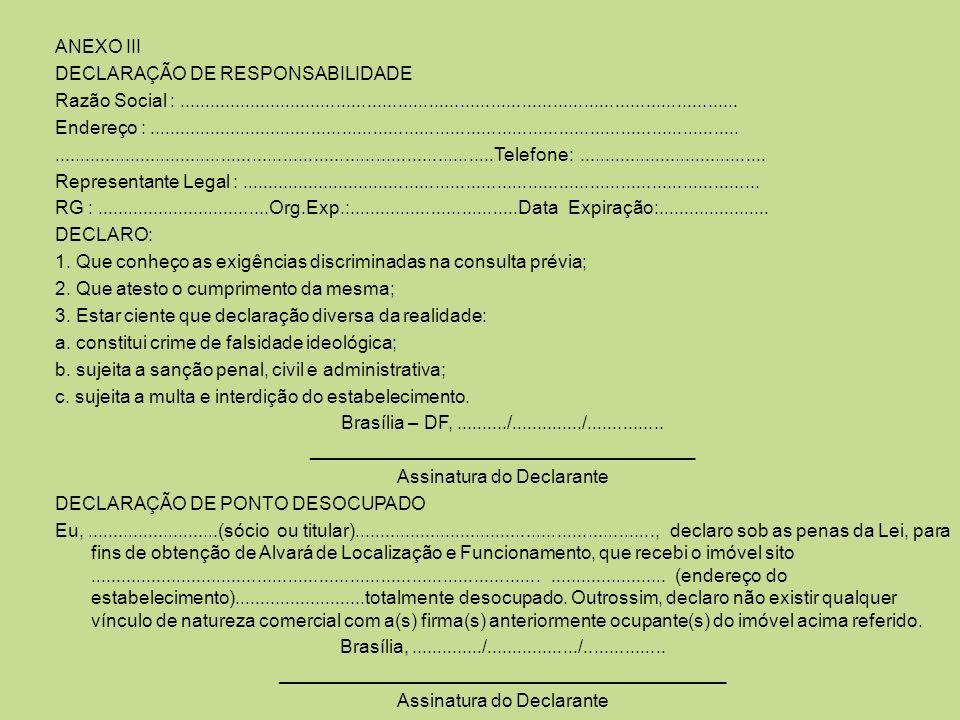 DECLARAÇÃO DE RESPONSABILIDADE