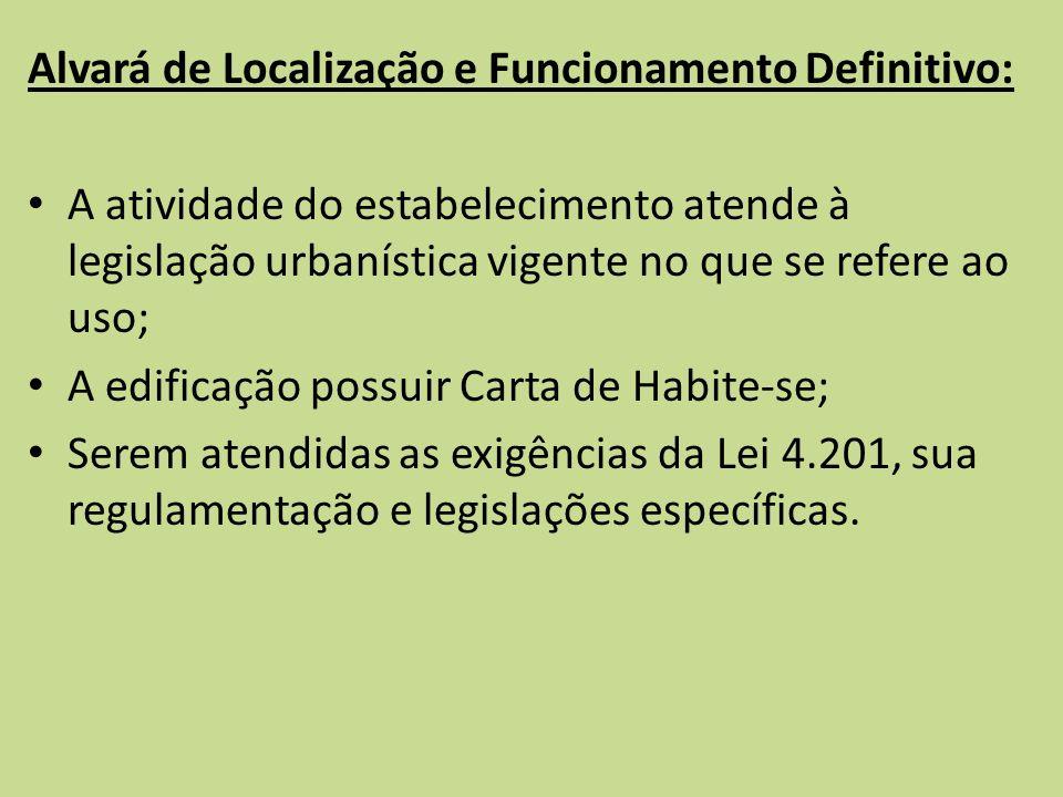 Alvará de Localização e Funcionamento Definitivo: