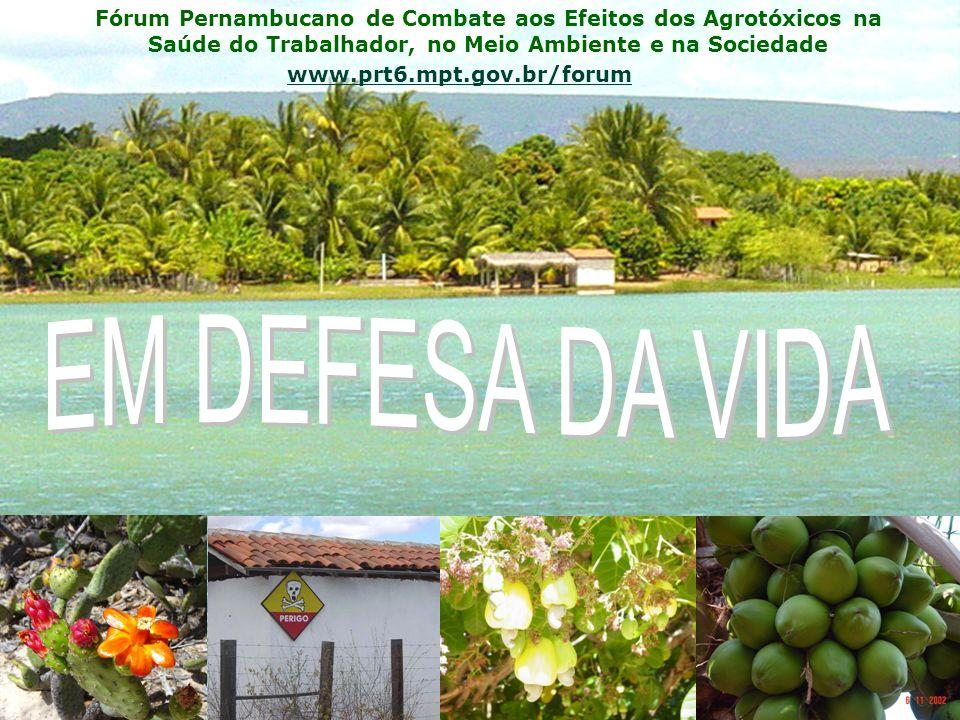 Fórum Pernambucano de Combate aos Efeitos dos Agrotóxicos na Saúde do Trabalhador, no Meio Ambiente e na Sociedade