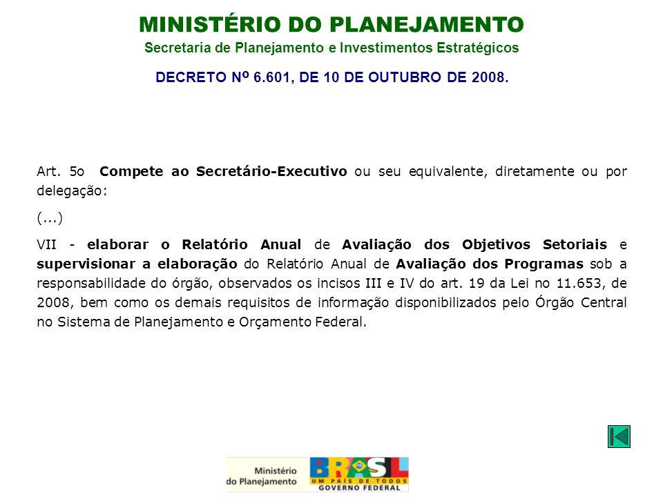 DECRETO Nº 6.601, DE 10 DE OUTUBRO DE 2008.