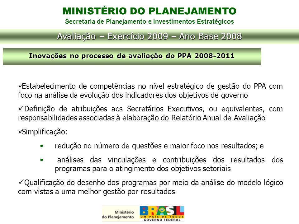 Inovações no processo de avaliação do PPA 2008-2011