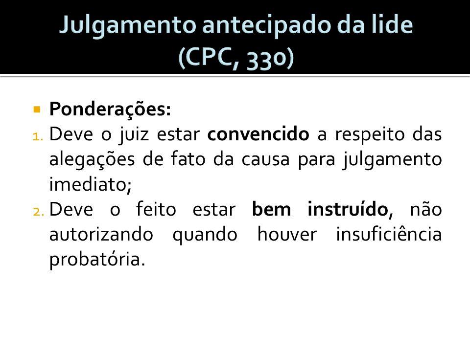Julgamento antecipado da lide (CPC, 330)