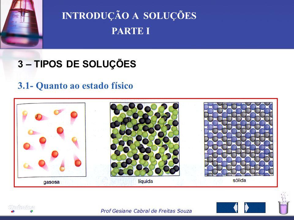 3 – TIPOS DE SOLUÇÕES 3.1- Quanto ao estado físico