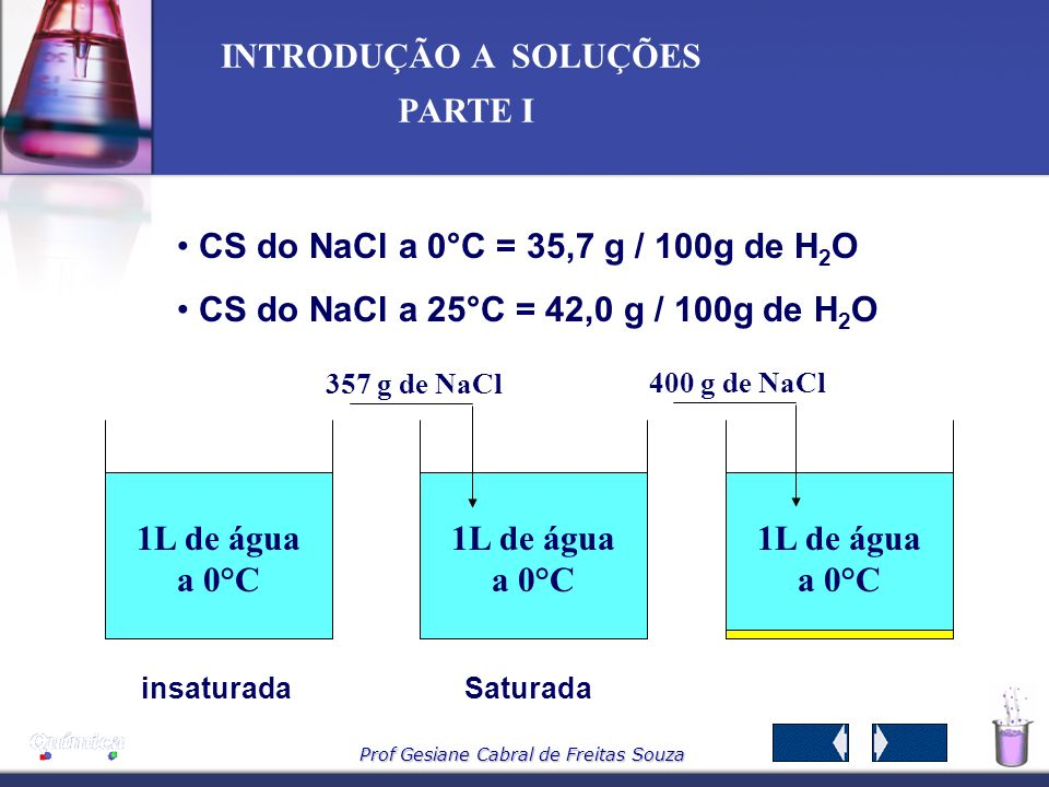 1L de água a 0°C 1L de água a 0°C 1L de água a 0°C