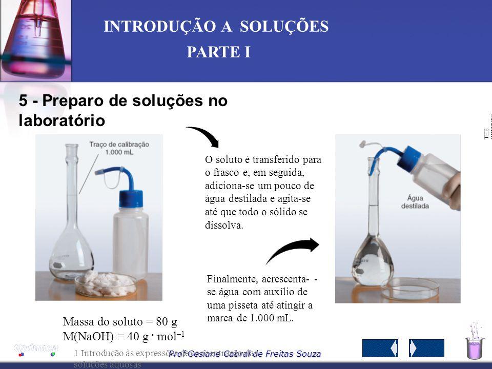 5 - Preparo de soluções no laboratório