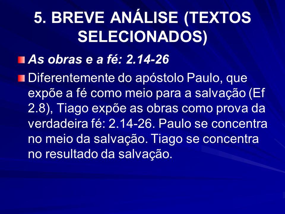 5. BREVE ANÁLISE (TEXTOS SELECIONADOS)