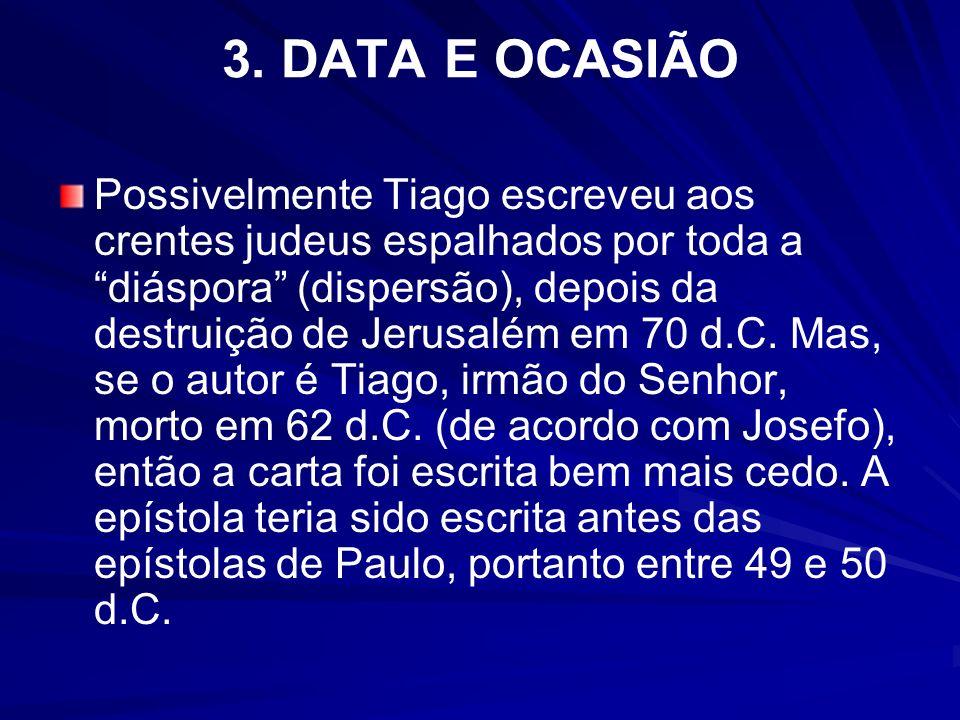 3. DATA E OCASIÃO