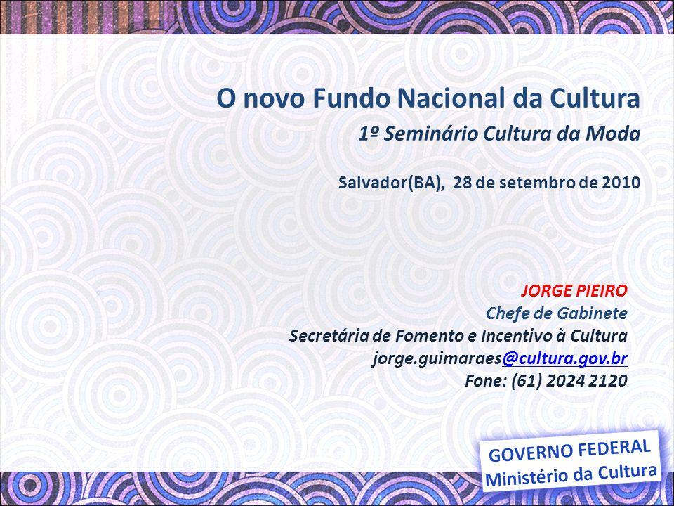 O novo Fundo Nacional da Cultura