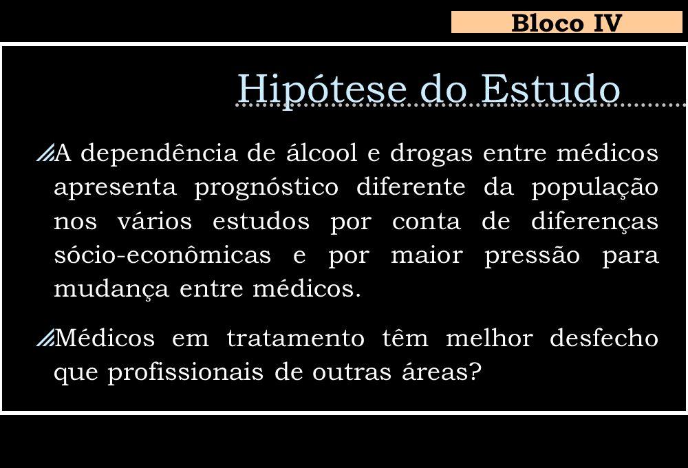 Hipótese do Estudo Bloco IV
