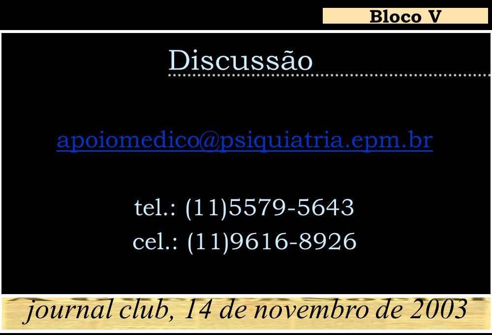 journal club, 14 de novembro de 2003
