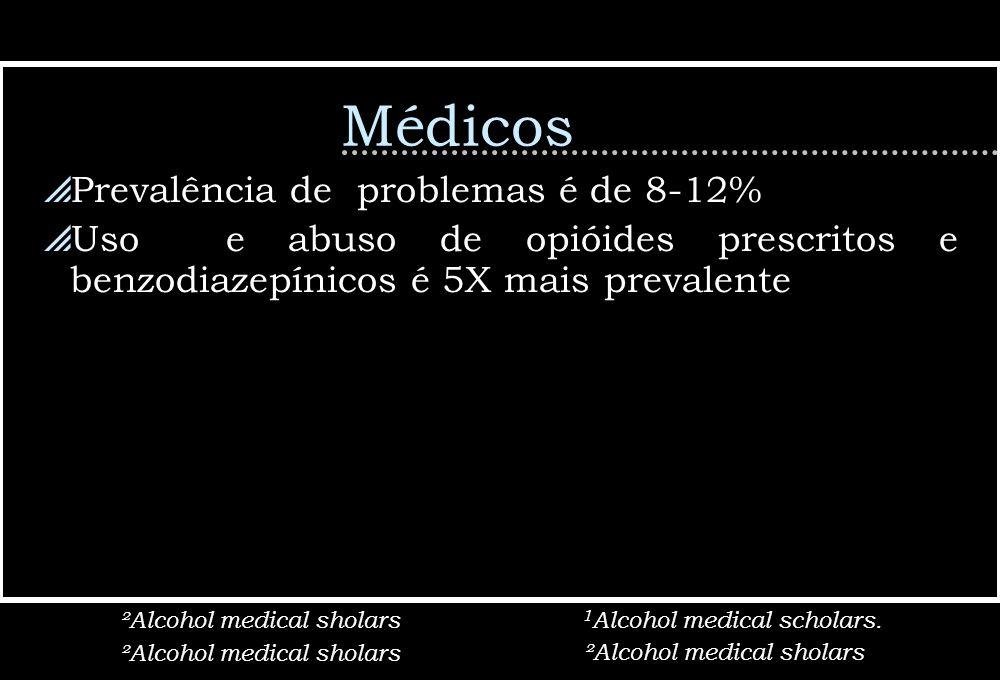 Médicos Prevalência de problemas é de 8-12%