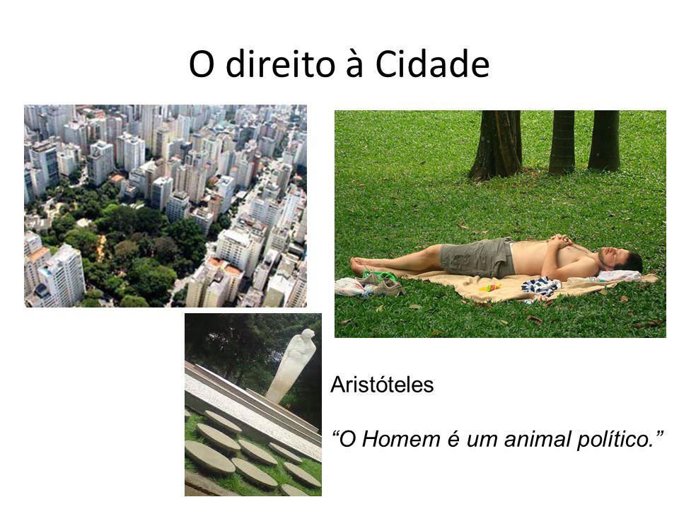 O direito à Cidade Aristóteles O Homem é um animal político.