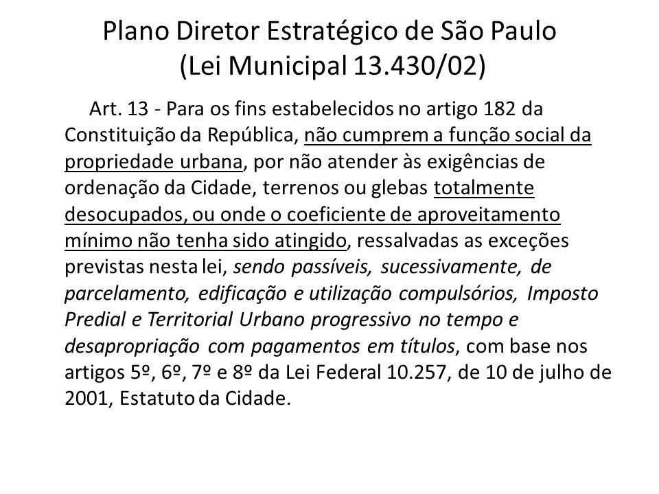 Plano Diretor Estratégico de São Paulo (Lei Municipal 13.430/02)