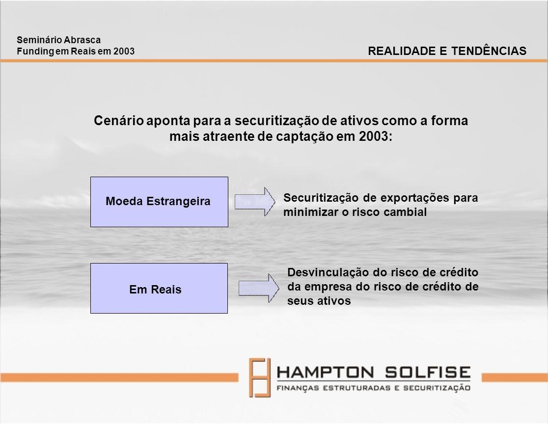 Seminário Abrasca Funding em Reais em 2003. REALIDADE E TENDÊNCIAS.