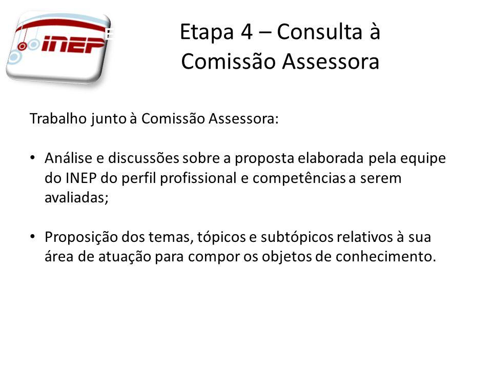 Etapa 3 – Consulta à Comissão Assessora