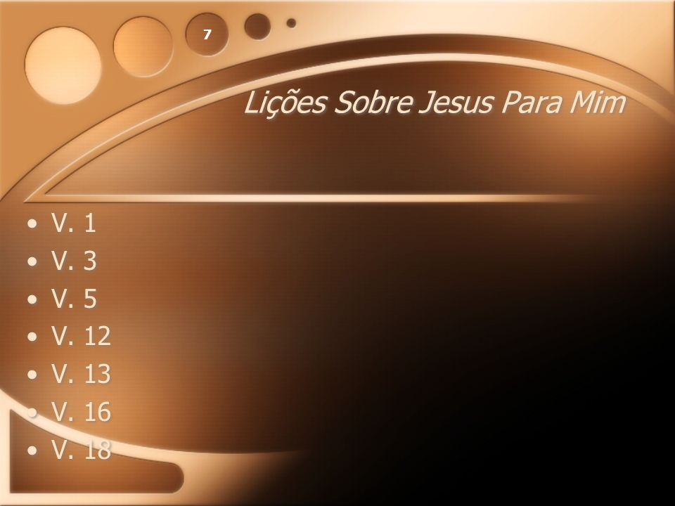 Lições Sobre Jesus Para Mim