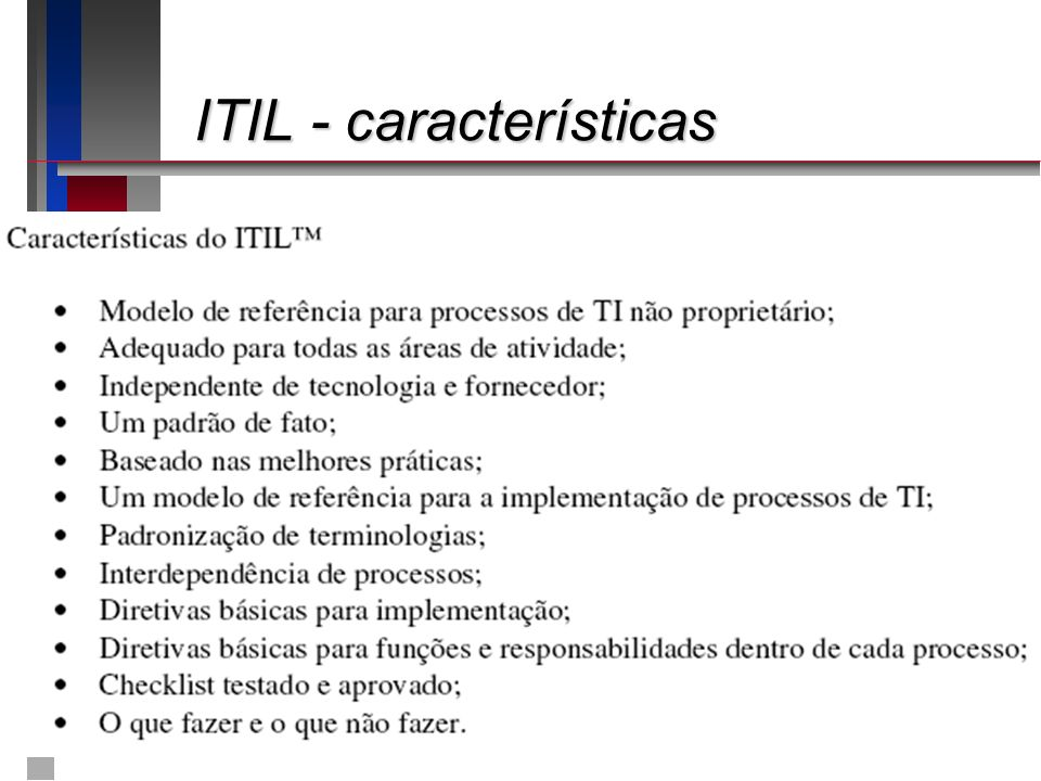 ITIL - características