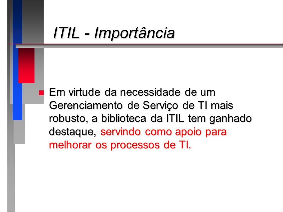 ITIL - Importância