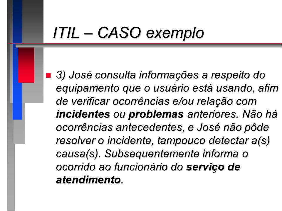 ITIL – CASO exemplo