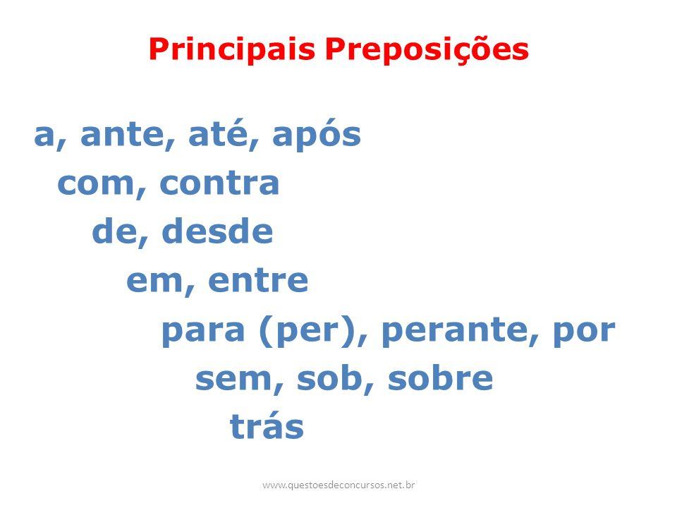 Principais Preposições