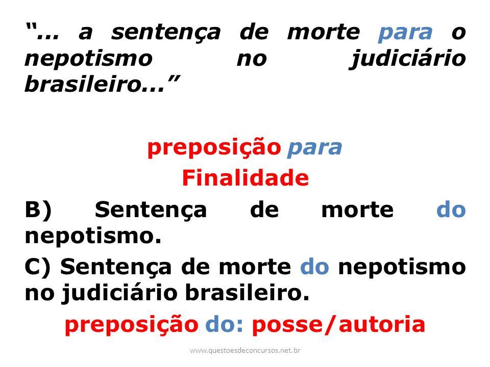 . a sentença de morte para o nepotismo no judiciário brasileiro
