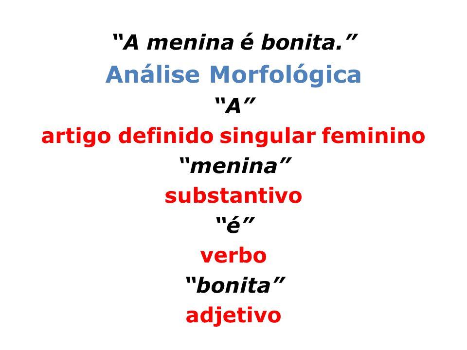 artigo definido singular feminino