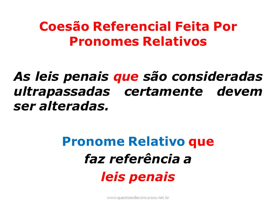 Coesão Referencial Feita Por Pronomes Relativos