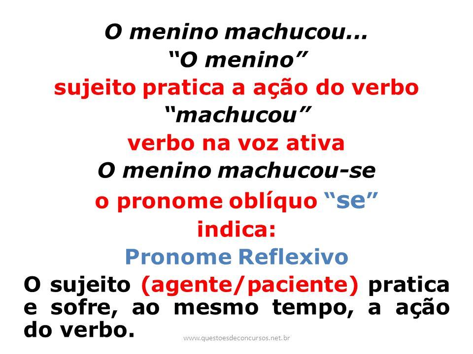 sujeito pratica a ação do verbo