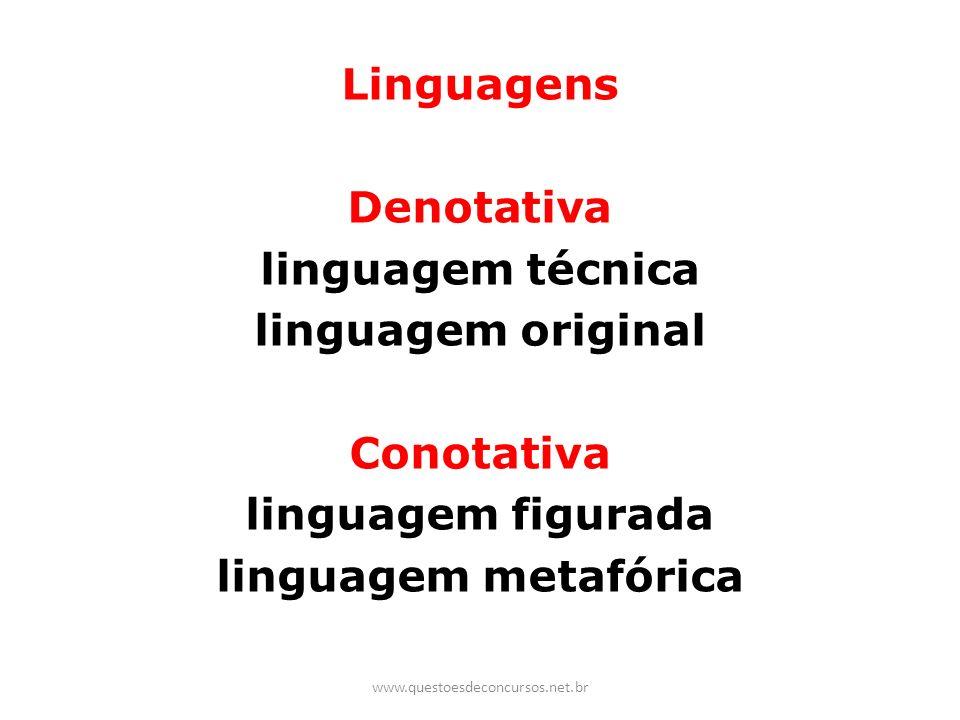 Linguagens Denotativa linguagem técnica linguagem original Conotativa