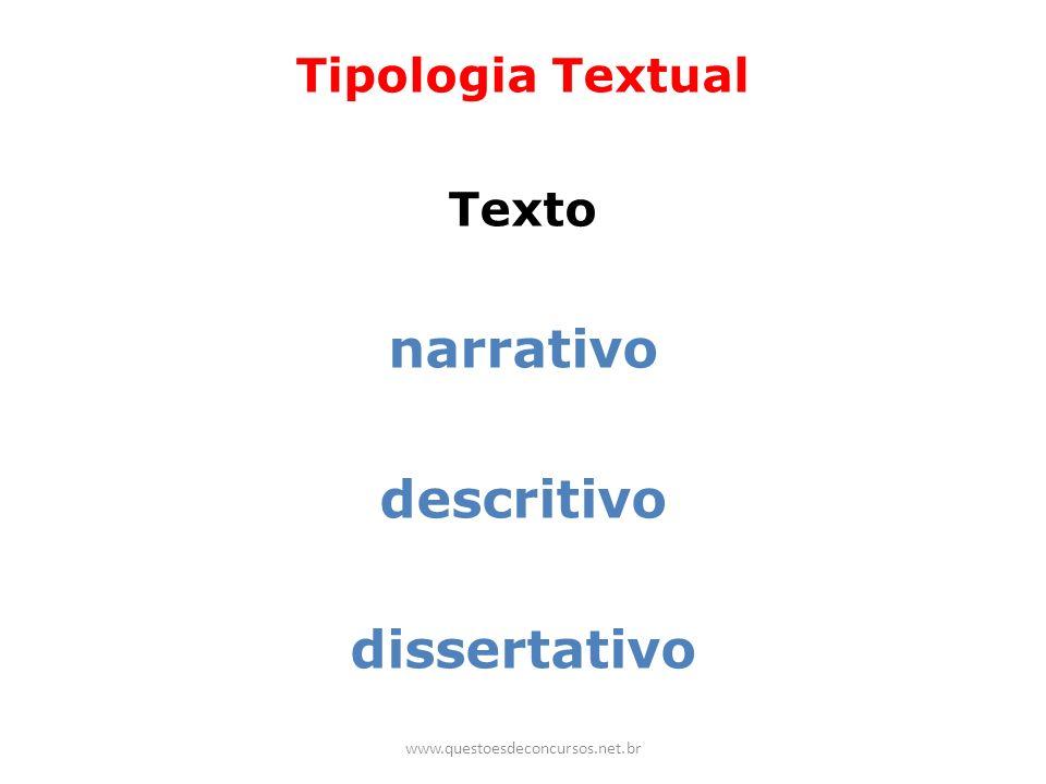 Tipologia Textual Texto narrativo descritivo dissertativo