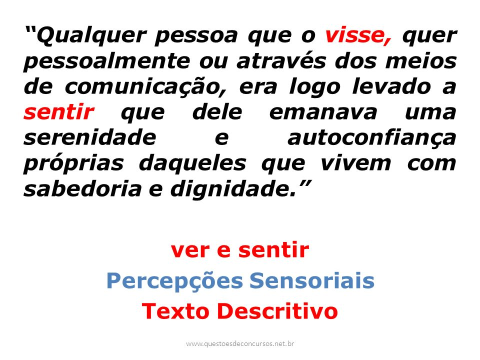 Percepções Sensoriais