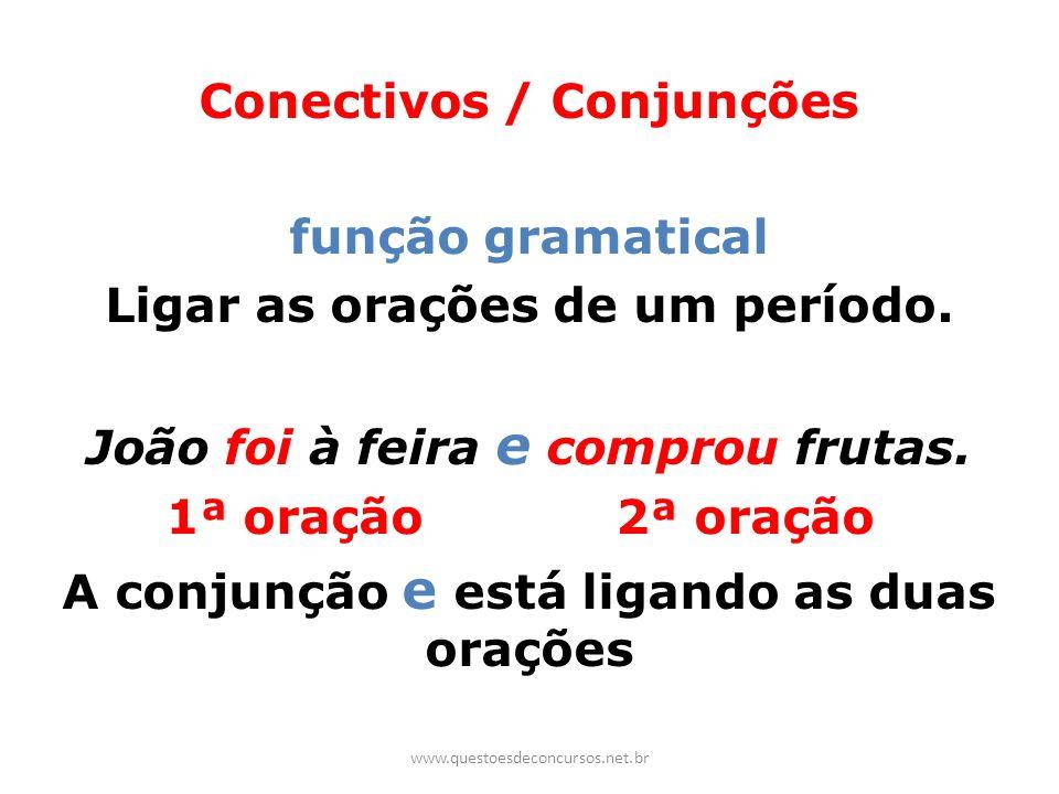 Conectivos / Conjunções função gramatical