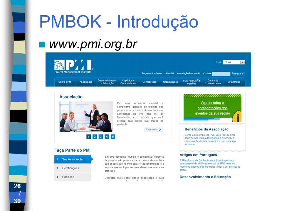 PMBOK - Introdução www.pmi.org.br