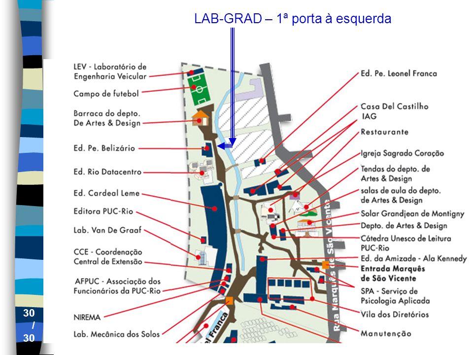 LAB-GRAD – 1ª porta à esquerda