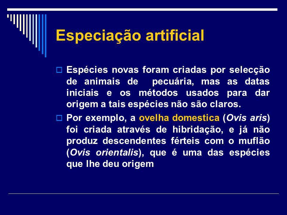 Especiação artificial