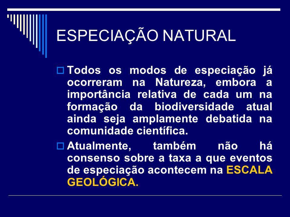 ESPECIAÇÃO NATURAL