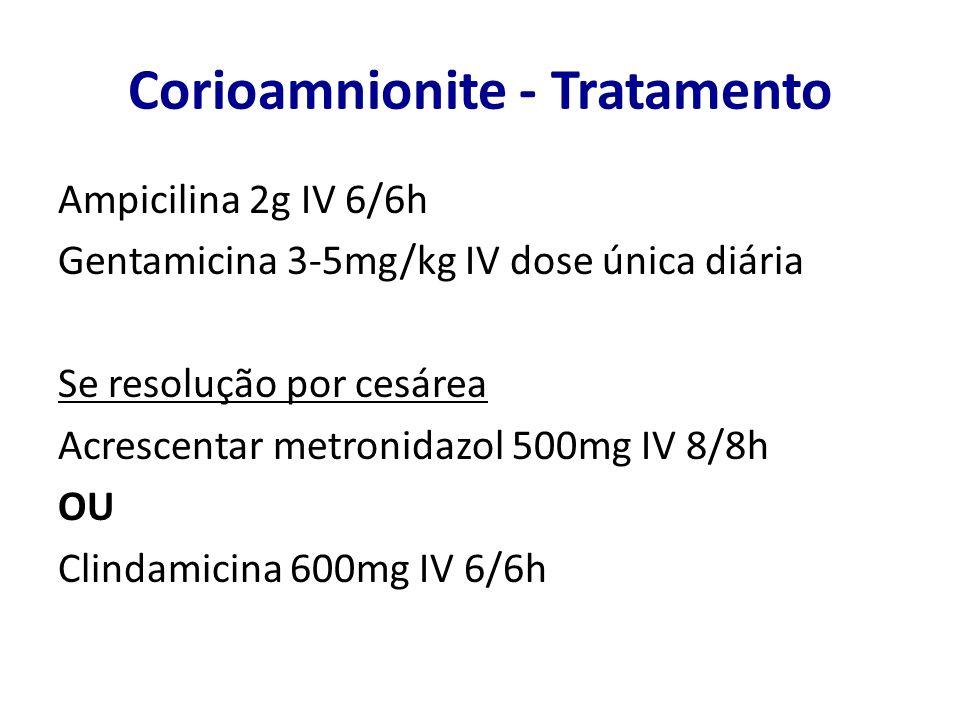 Corioamnionite - Tratamento