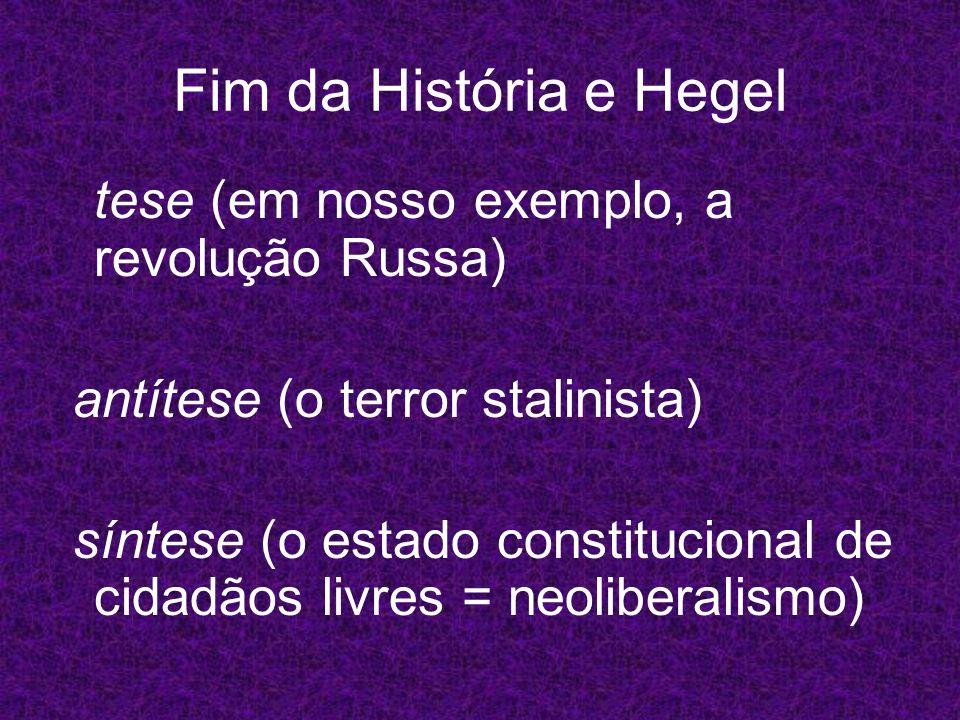 Fim da História e Hegel antítese (o terror stalinista)