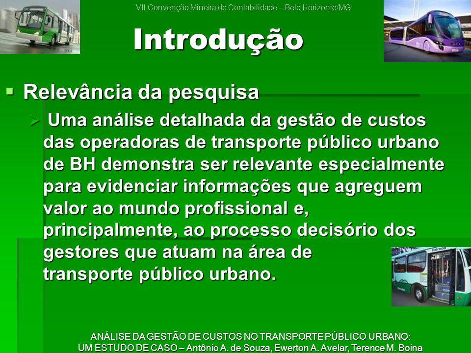 ANÁLISE DA GESTÃO DE CUSTOS NO TRANSPORTE PÚBLICO URBANO: