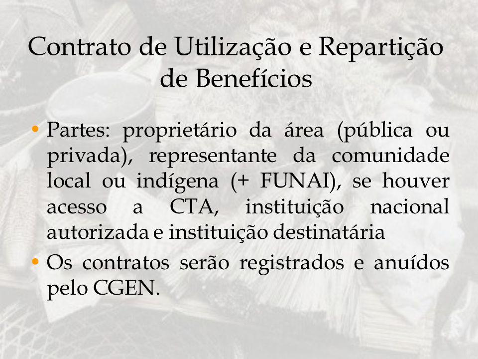 Contrato de Utilização e Repartição de Benefícios
