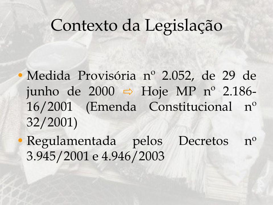 Contexto da Legislação